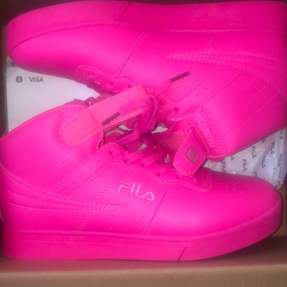 Fila Shoes   Bright Pink Fila Shoes